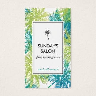 Spray Tanning Salon Tropical Green Palms Business Card