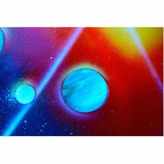 spraypaint de los planetas del verde azul de la No