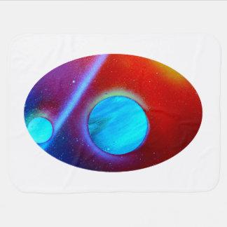 spraypaint de los planetas del verde azul de la No Mantita Para Bebé