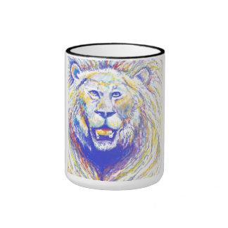 spraypaint lion mg coffee mug