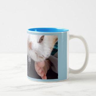 spread a little love Two-Tone coffee mug