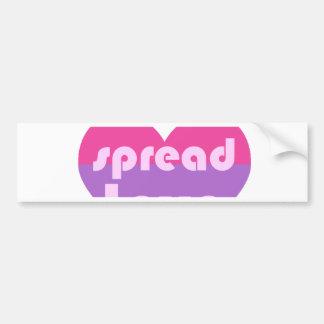 Spread Bisexual Love Bumper Sticker