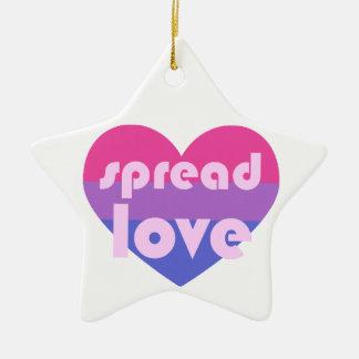 Spread Bisexual Love Ceramic Ornament