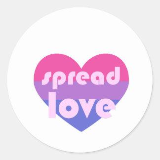 Spread Bisexual Love Classic Round Sticker