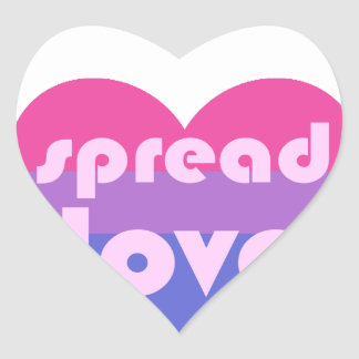Spread Bisexual Love Heart Sticker