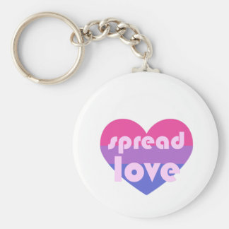 Spread Bisexual Love Keychain