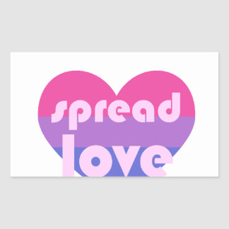 Spread Bisexual Love Rectangular Sticker