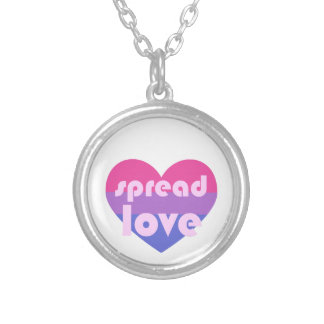 Spread Bisexual Love Silver Plated Necklace