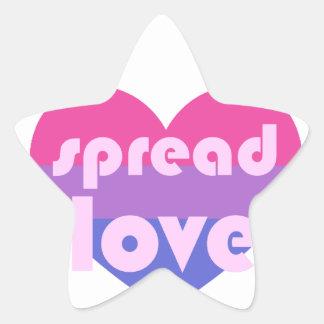 Spread Bisexual Love Star Sticker
