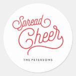 Spread Cheer Classic Round Sticker