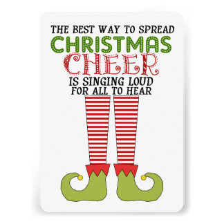 Spread Christmas Cheer Elf Party Invitation Card