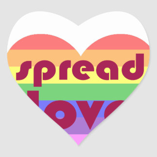 Spread Gay Love Heart Sticker