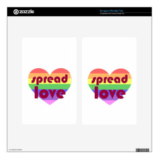 Spread Gay Love Kindle Fire Decal