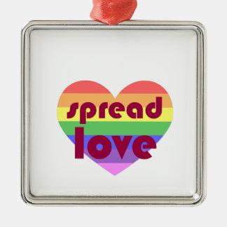 Spread Gay Love Metal Ornament