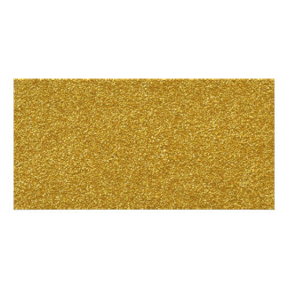 Spread gold dust yellow pebbles in the raw card