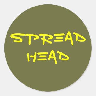 Spread Head Classic Round Sticker