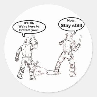 Spread it! classic round sticker