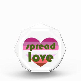 Spread Lesbian Love Acrylic Award