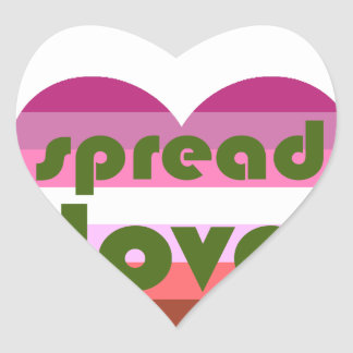 Spread Lesbian Love Heart Sticker