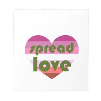 Spread Lesbian Love Notepad