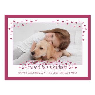 SPREAD LOVE AND KINDNESS Valentine Postcard
