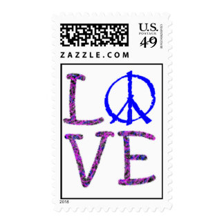 Spread Love and Peace Postage Stamp