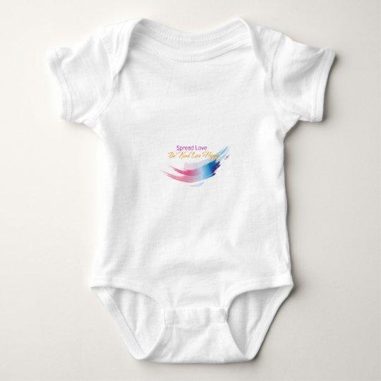 Spread Love, Be Kind, live Happy Baby Bodysuit