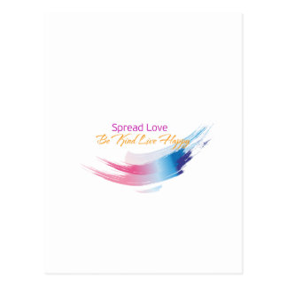 Spread Love, Be Kind, live Happy Postcard