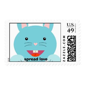 Spread love, Bunny stamp