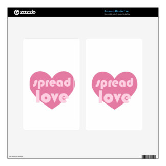 Spread Love (general) Decal For Kindle Fire