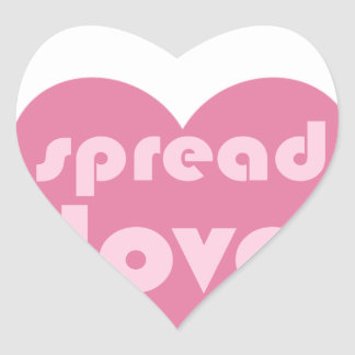 Spread Love (general) Heart Sticker