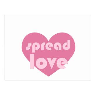 Spread Love (general) Postcard
