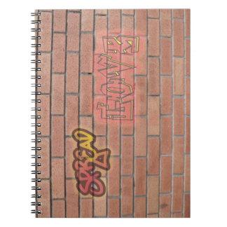 Spread Love Graffiti Sign Notbook Notebook