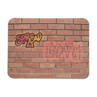 Spread Love Graffiti Sign Refrigerator Magnet
