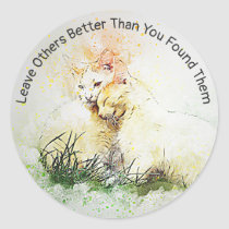 Spread Love & Kindness Inspirational Cats Stickers
