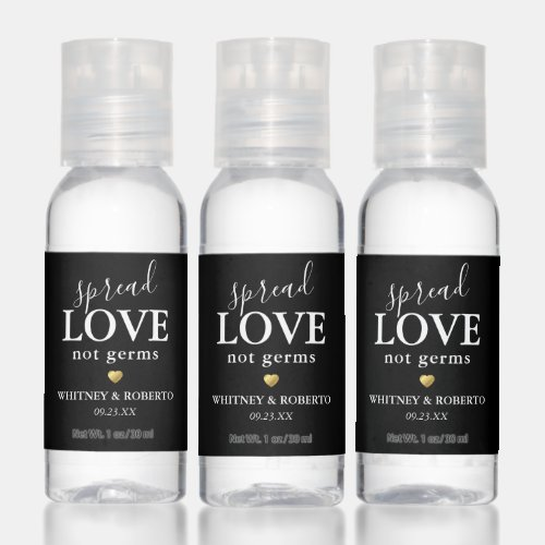 Spread Love Not Germs Hand Sanitizer