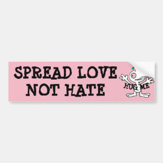Spread Love Not Hate Hugs, Alien Bumper Sticker