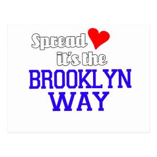 Spread Love The Brooklyn Way Postcard