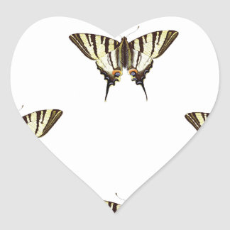spread out butterflies heart sticker