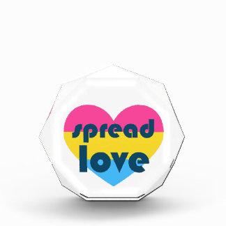 Spread Pansexual Love Acrylic Award