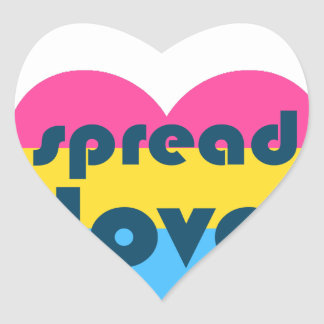 Spread Pansexual Love Heart Sticker