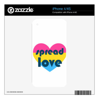 Spread Pansexual Love iPhone 4S Skin