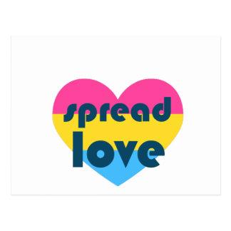 Spread Pansexual Love Postcard