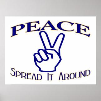 Spread Peace Around Peace Sign