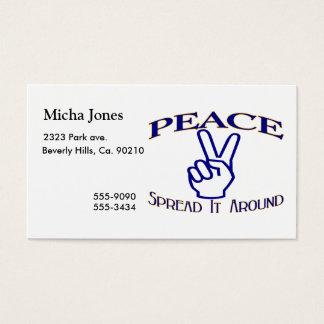 Spread Peace Around Peace Sign Business Card