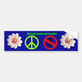 spread peace bumper sticker