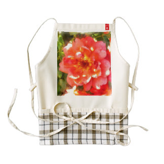 Spread petals of a red rose zazzle HEART apron