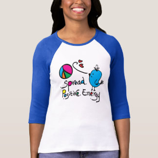 Spread positive energy Ladies 3/4 Sleeve Raglan Tee Shirts