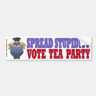 Spread Stupidity Bumper Stkr Car Bumper Sticker