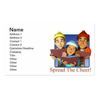Spread The Cheer Double-Sided Standard Business Cards (Pack Of 100)